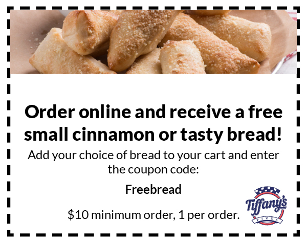 Free small bread with online order, coupon code: Freebread. Minimum $10 order